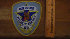 INTERSTATE SECURITY SERVICE POLICE K9 WORKING DOG PATCH BX F#1
