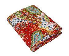 Vintage Kantha Quilt Indian Bedding Bedspread Coverlet Blanket Throw Reversible