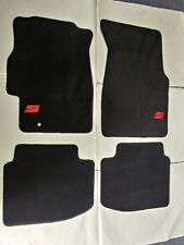 Fit Honda Civic 1996-2000 4Dr/2Dr Floor Mats Balck W/Emblem (Nylon)