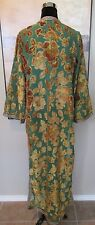 VTG Ethnic Bindalli Tunic Burn Out Velvet Green/Gold Floral S/M