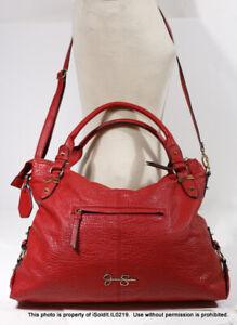 Large RED PEBBLED PU (Faux) LEATHER JESSICA SIMPSON HANDBAG Crossbody Bag