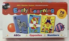 Spice Box Early Learning Puzzle Set, 78 ABC, Opposites, Numbers Jigsaw Puzzles