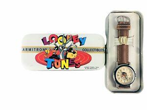 1994 Looney Tunes Armitron Tazmanian TAZ Devil Wrist Watch w/Date & Glow In Dark