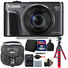 Canon PowerShot SX720 HS 20.3 MP 40X Optical Zoom Wifi NFC Camera + 32GB Bundle