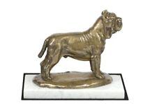 Neapolitan Mastiff - figurine with a dog on white marble, Art Dog Usa
