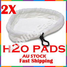 2x white washable Pads 1500W Floor Steam Mop Pad Steaming Cleaning 24x24x27CM