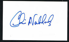 Chris Nabholz signed autograph auto 3x5 index card Baseball Player H4774
