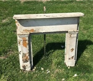 Antique Fireplace Mantel Surround, Architectural Salvage, Victorian Rustic, A55