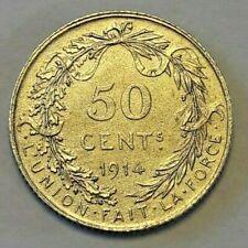 ==>> 50 Cents 1914 Belgïe Belgique LA#BFM-72 <<==