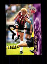 Rudi Völler Bayer Leverkusen PANINI CARD 1996 ORIGINALE FIRMATO + a 171040
