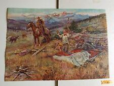 Cowboy Charles Russell vintage Art print