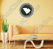 "South Carolina State Map USA Grunge Stamp Wall Sticker Room Interior Decor 22""."