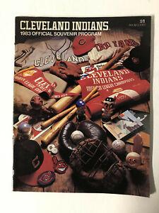 1983 Cleveland Indians Official Souvenir Program vs. Oakland Athletics