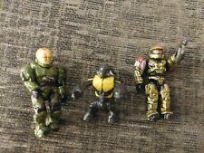 Halo Mega Bloks Figure Lot Gold Spartan
