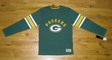 NWT Men's Majestic NFL Green Bay Packers  Long-Sleeve Green Shirt Size Medium