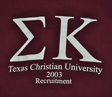 T-SHIRT S SMALL SIGMA KAPPA SORORITY TEXAS CHRISTIAN UNIVERSITY TCU 2003 SHIRT