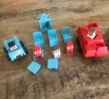 14 PIECES Vintage PLAYSKOOL Square LITTLE PEOPLE Familiar Places Holiday Inn Bed