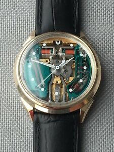 SERVICED N0 1970 Bulova Accutron Spaceview 10K Gold  Filled 214 Men's Watch
