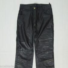LEATHER Black Pants Women's