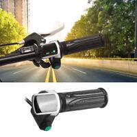 36V 48V Electric Bike EBike Throttle Grips Handlebar With LCD Display Meter OB