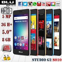 "BLU Studio G2 S010Q Android 6.0 - 3G H+ 5.0"" HD 8GB 5.0MP Unlocked GSM Phone"