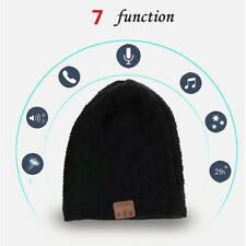 Fashion Beanie Hat Wireless Bluetooth Smart Cap Headphone Headset Speaker Mic