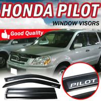 For 03-08 Honda Pilot Slim Smoke Window Visors Acrylic Guard Shade Deflector 4PC