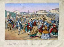 Sachsen Dresden Garde Kavallerie Raupenhelm Uniform Dragoner Heimkehr 1866