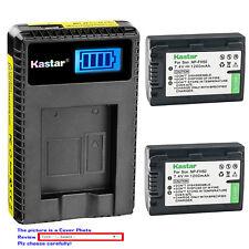 Kastar Battery LCD Charger for Sony NP-FH50 & DCR-DVD705 DCR-DVD708 DCR-DVD710