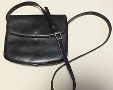 La Bagagerie Ladies Black Leather Small Shoulder Bag/ Purse Used