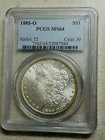 1885 O Morgan Silver Dollar PCGS MS64 Bold Detail Bright White High Grade $1 Gem