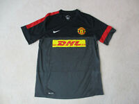 Nike Manchester United Soccer Jersey Adult Extra Large Black Red Dri Fit Futbol