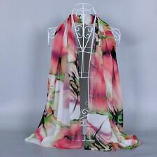 Fashion Lady Long Wrap Women's Shawl Chiffon Scarf Scarves Pink