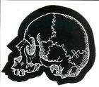 Skull Left Patch Death Metal Occult Halloween Reaper Zombie Day Of The Dead 666