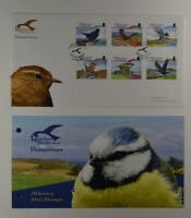 2007 ALDERNEY PRESENTATION PACK FDC RESIDENT BIRDS PART 2 PASSERINES LOT 376*