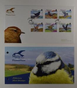 2007 ALDERNEY PRESENTATION PACK FDC RESIDENT BIRDS PART 2 PASSERINES LOT 376*