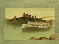 "Vintage Postcard Among The Thousand Islands, Steamer ""Kingston"", Heart Island"