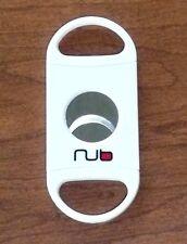 NUB CIGAR CUTTER White Double Blade >NEW<