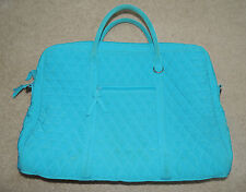 Vera Bradley Laptop Computer Bag Case Briefcase Microfiber Turquoise Blue