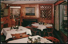 HARWICHPORT MA Carriage Trade Restaurant Vintage Interior View Postcard Old PC