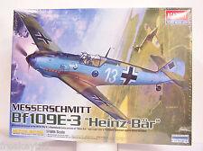 Academy WW2 WWII Messerschmitt Bf109E-3 Heinz Bar ME 109 Plane 1/48 Model Kit