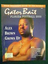 2000 FLORIDA GATORS FOOTBALL PRESEASON YEARBOOK - SPURRIER, GRAHAM , BROWN +++