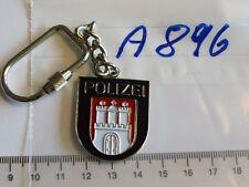 Polizei Schlüsselanhänger Hamburg blau (A896-)