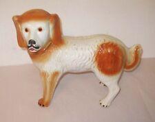Rare Antique Staffordshire Standing Dog Sheperd Retriever Large England Glass