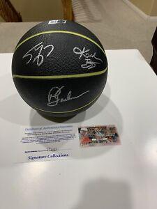Kobe Bryant, Shaquille O'Neal & Phil Jackson Signed Basketball W 2 COA