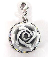 SoHo® Anhänger Rose silber matt eloxiert Strass Kristalle aurore borealis