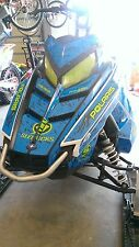 POLARIS RUSH PRO RMK ASSAULT 144 155 163 hood wrap kit DECAL splatter blue lime