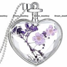 Gifts for Her Black Friday Deals Xy Purple Flower & Silver Heart Necklace Xmas