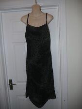 Brown Animal Print Dress with Hanky Hemline Size 12