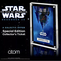 STAR WARS THE RISE OF SKYWALKER 12/20/19 TICKET w/CASE Atom Limited Edition NEW